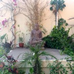 Buddha Statue on the Rooftop Terrace