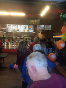 Donut Line Out the Door