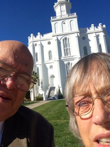 Selfie at the St. George Temple
