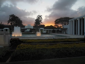 Laie Temple Sunset