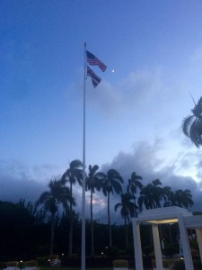 Flags and the Waxing Moon