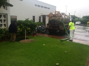 Pumping Out the Sewer Holding Tank
